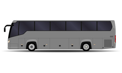 realistic bus. side view