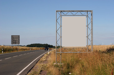 Advertising: Not to be overlooked billboard on the edge of a federal road in Germany