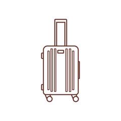 Icon of baggage, luggage, suitcase isolated on white background.