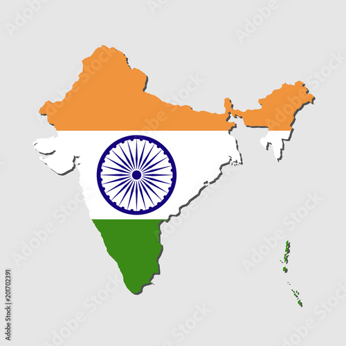 India Map Flag.India Map Flag India Map With Flag Vector Stock Image And Royalty