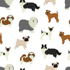 Dog pattern Geometric style