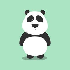Hand drawn vector illustration of a cute funny panda