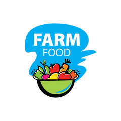 Farm House concept logo full vector