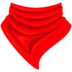 Colorful cartoon cowboy scarf