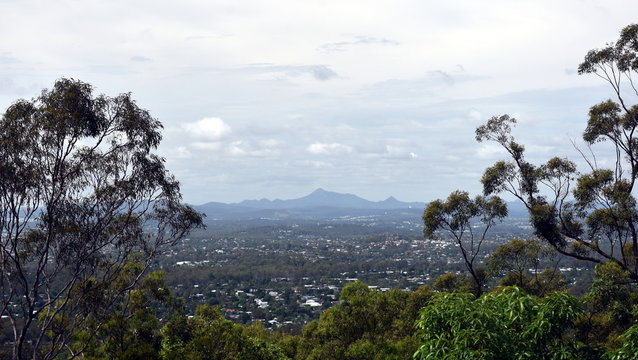 Amazing landscape view from Brisbane lookout Brisbane Queensland Australia