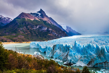 The glacier Perito Moreno in Patagonia