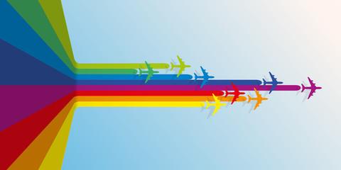 avion - avion de ligne - compagnie aérienne -aéroport - fond - voyage - transport - concurrence