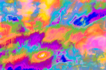 Abstract psychedelic picture in purple, blue, red, yellow etc.. Can be used separately or to create gif animations, videos etc.