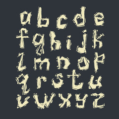 letters of latin alphabet