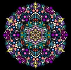Dot painting meets mandala 2 18. Aboriginal style of dot painting and power of mandala