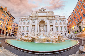 Trevi Fountain (Fontana di Trevi) at sunrise, Rome, Italy