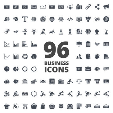 Business vector icon silhouette