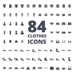 Clothes silhouette icon vector pack