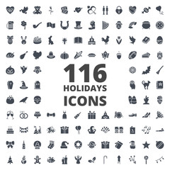 Holidays silhouette icon vector