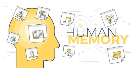 Human memory concept Wall mural