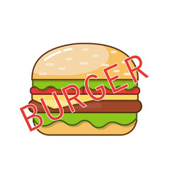 Image of a burger on a white background.