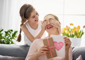 daughter is congratulating mom