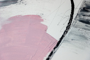 abstract pink acrylic painting on canvas