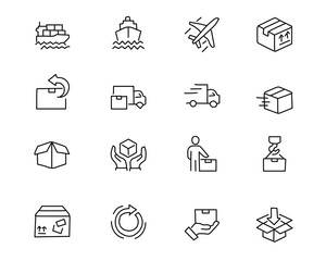 shipping hand drawn icon design illustration, line style icon, designed for app and web