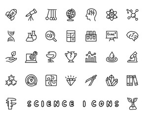 science hand drawn icon design illustration, line style icon, designed for app and web