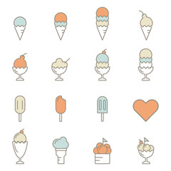 ice cream line icon vector illustration