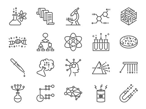 Data science icon set. Included the icons as user algorithm, big data, procedure, science, test, raw data, sorted, solution and more