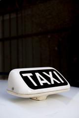taxi sign closeup