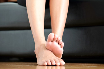 Beautiful female legs and feet .Health and beauty concepts