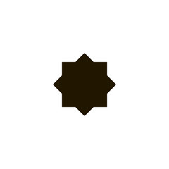 eight point star icon. sign design