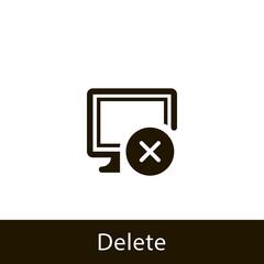 computer icon. delete computer. sign design