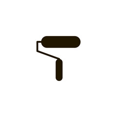 paint roller icon. sign design
