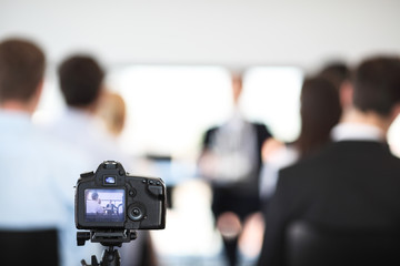 Making video of business people