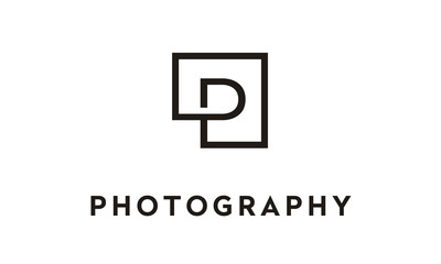 Letter Initial P for Photography logo design inspiration