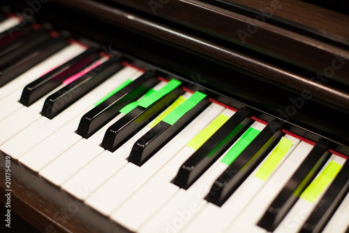 Teaching Piano Helper Colorful Stickers Stock Photo And Royalty
