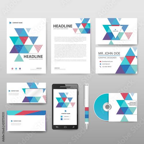 blue vector business proposal leaflet brochure flyer template design