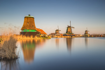 Windmills in Zaanse Schans - Holland Netherlands
