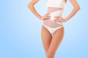 young healthy female body in bikini