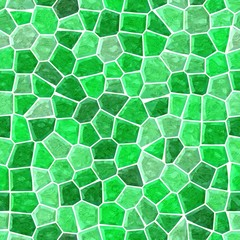 surface floor marble mosaic pattern seamless background with white grout - highlight green color