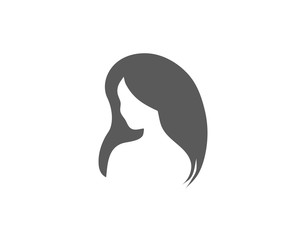 Modern Woman face shape or logo icon