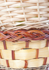 Different texture of basket weaving