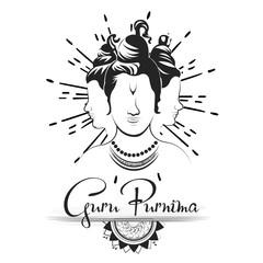 Creative vector Illustration for the Day Of Honoring Celebration Guru Purnima.