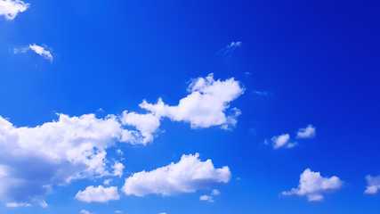 blue sky with clouds outdoors