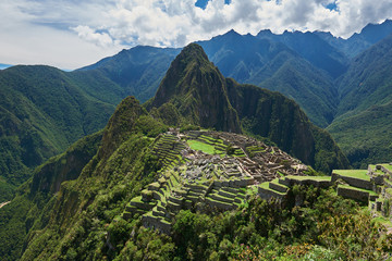 Drone view on Machu Picchu