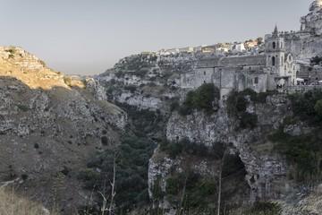 Rocky landscape surrounding Matera