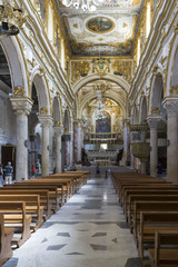 Central nave of Matera Duomo Cathedral