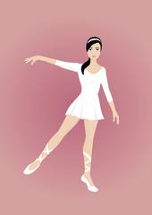 beautiful ballerina pink backround