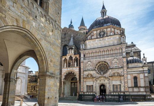 Basilica of Santa Maria Maggiore in Citta Alta, Bergamo, Italy