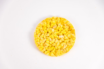 corn cakes isolated on a white background