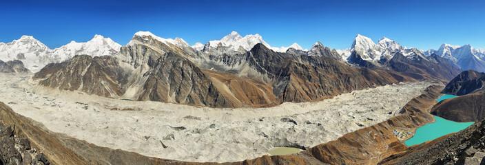 Views from Gokyo Ri, Sagarmatha national park, Khumbu valley, Nepal