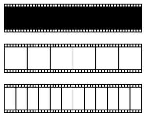 Film strip collection. Vector template. Cinema, movie, photo, filmstrip frame.